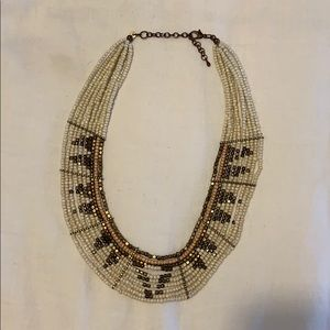 Anthropologie Beaded Statement Necklace